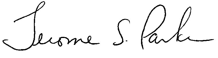 Jerome S. Parker signature