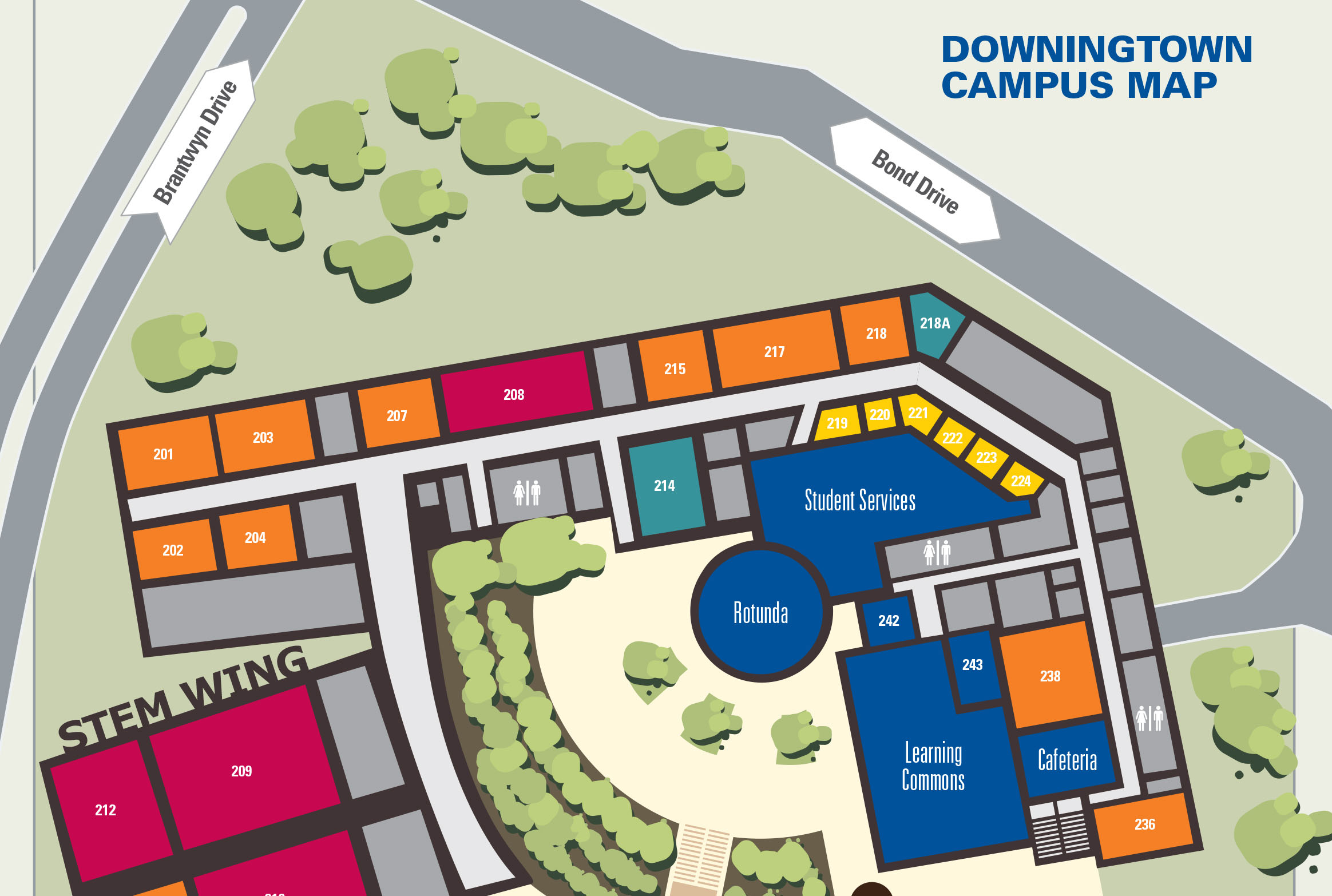 Downingtown Campus Map
