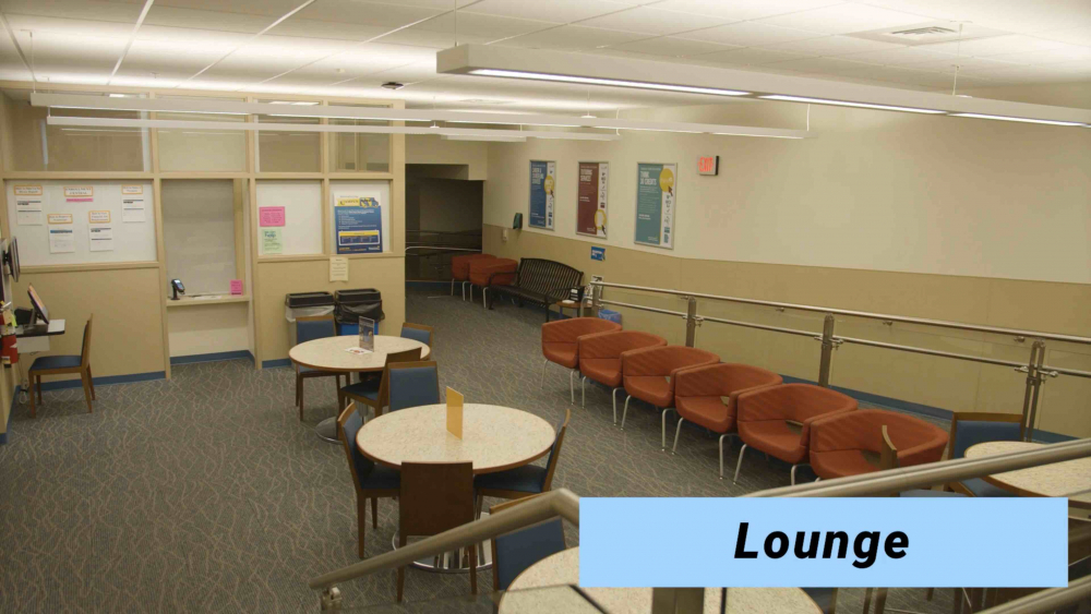 Photo of lounge area at Upper Darby Center.