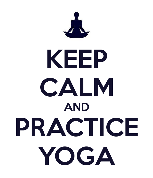 Keep Calm and Practice Yoga image