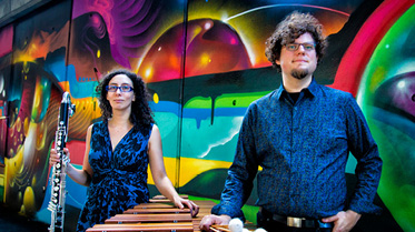 Photo of Transient Canvas, marimba and clarinet duo