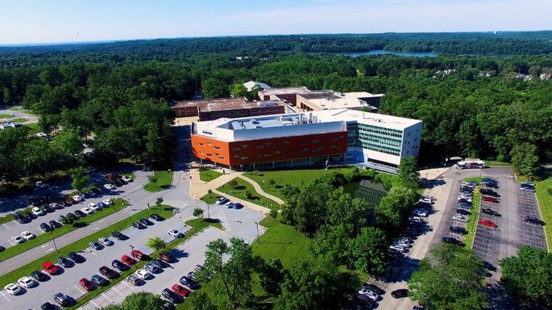 Aerial photo of Marple Campus