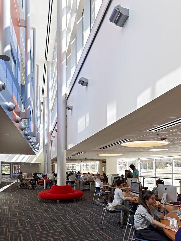 Photo inside STEM Building