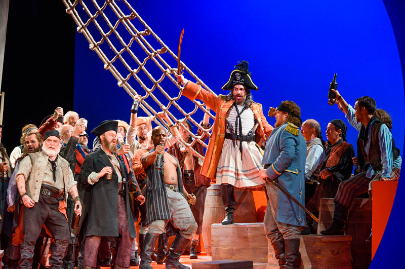 a discussion on the pirates of penzance a comic opera The pirates of penzance2015-05-1140reviewer's ratingno have quite a happy relationship with gilbert and sullivan jonathan miller's production of the mikado has been in the repertoire since 1987 (and is having another outing, starting in november 2015) and with its bold 'concept' and look it's a genuine crowd-pleaser, and more importantly money in the bank at [].