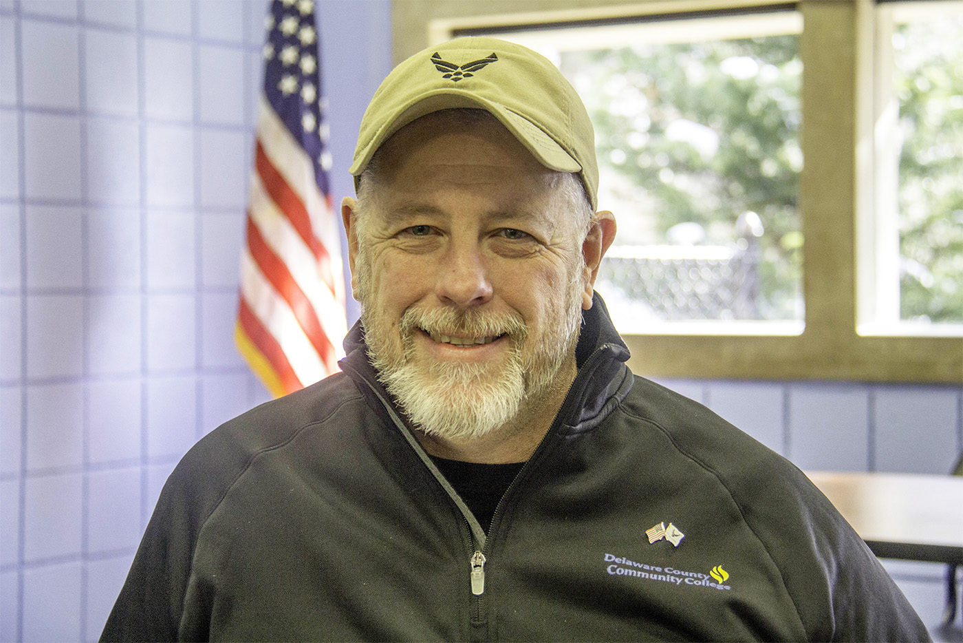 Photo of Robert Saugling in the Nazz Mariani Veterans Center at the Marple Campus