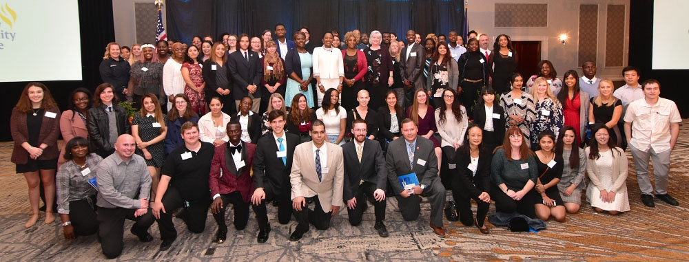 Group photo of scholarship recipients