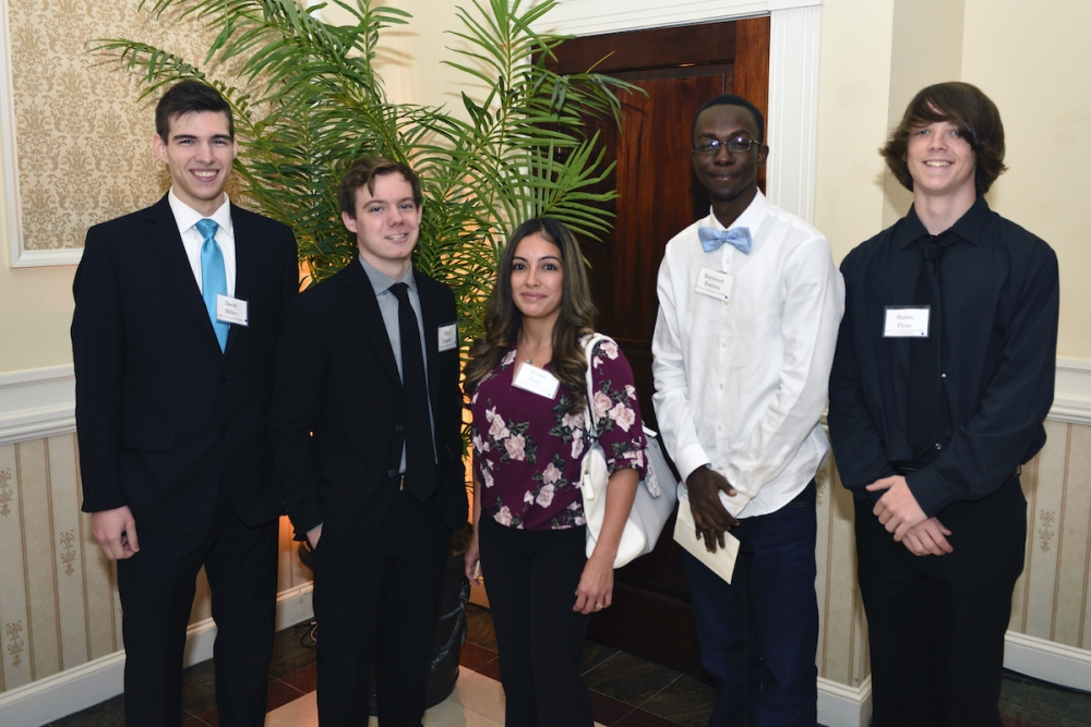 Student Scholarship recipients at the 2019 Educational Foundation Dinner waiting to meet and thank their benefactors.