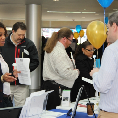 Students at 2014 Job Fair