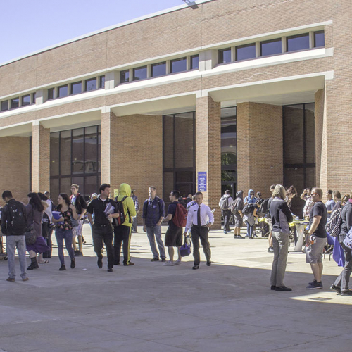 Students at 2015 Fall Open House
