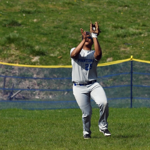 Phantoms outfielder catches a fly ball