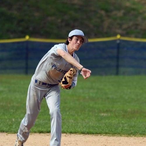 Phantoms infielder throws to first base