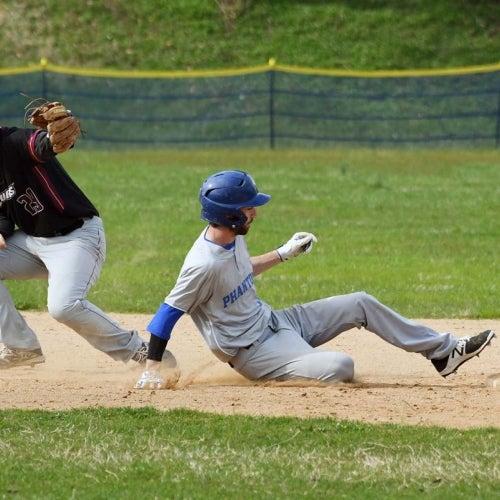Phantoms player slides back to second base
