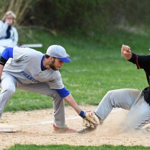 Phantoms third baseman makes the tag