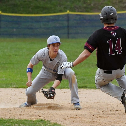 Infielder ready to make the tag