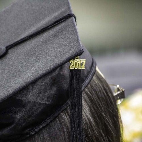 Student cap with 2017 emblem