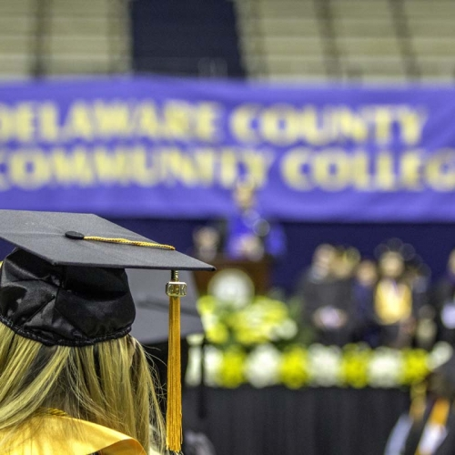 Delaware County Community College banner in background