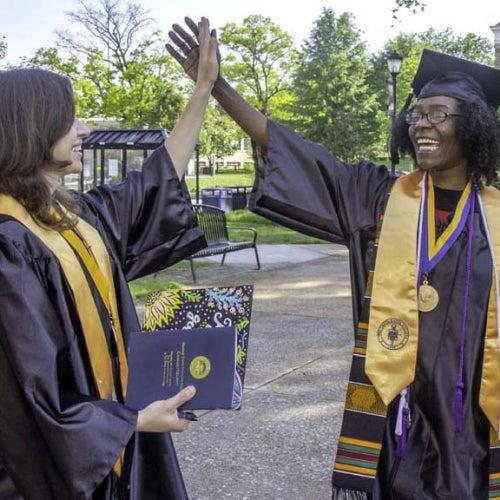 Grads celebrating
