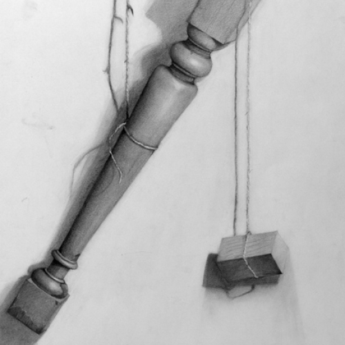 Drawing Course Work - drawing of a table leg