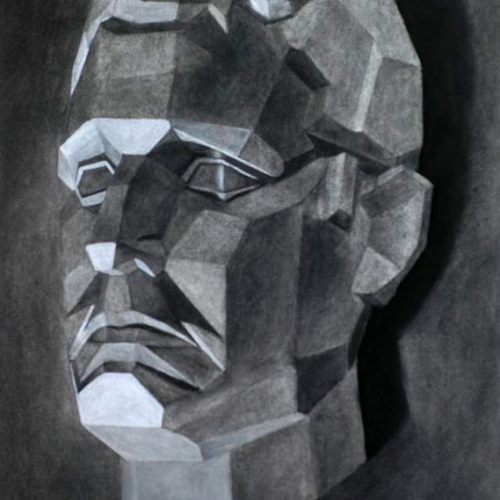 Drawing Course Work - drawing of a mans head