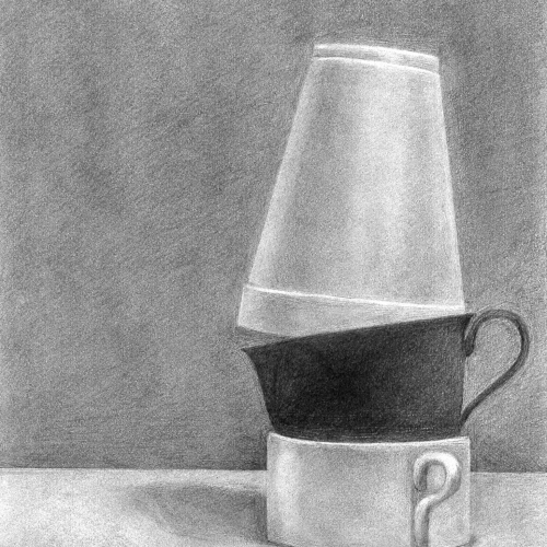 Drawing Course - drawing of tea cup