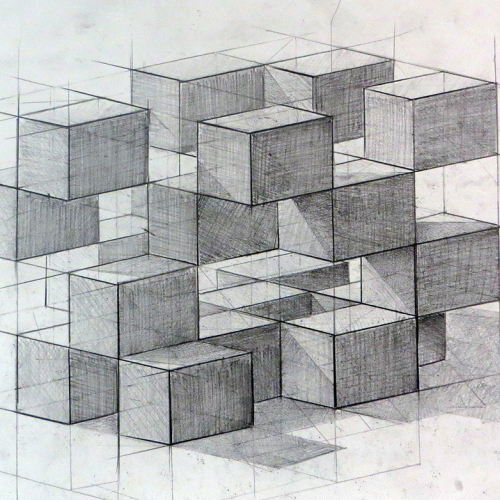 Drawing Course drawing of cube