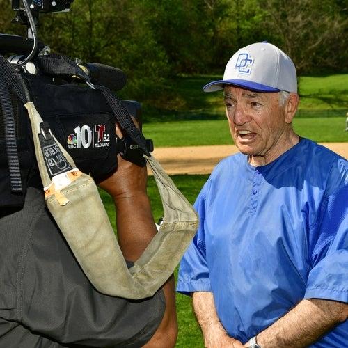 Paul Motta being interviewed