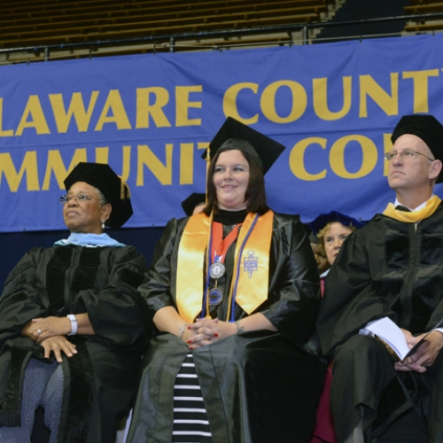 Students at Commencement 2014