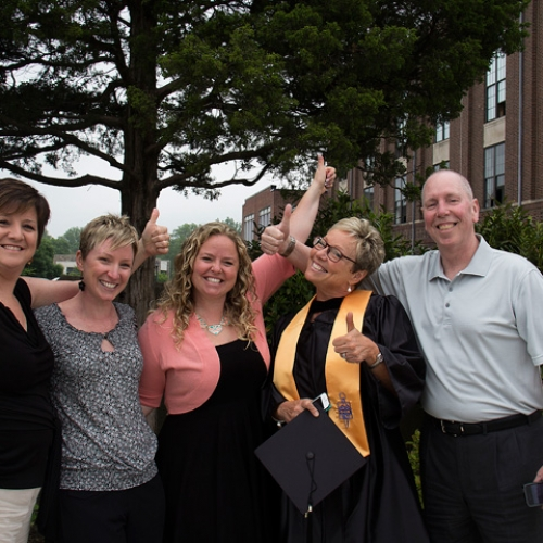 Family at Commencement 2014